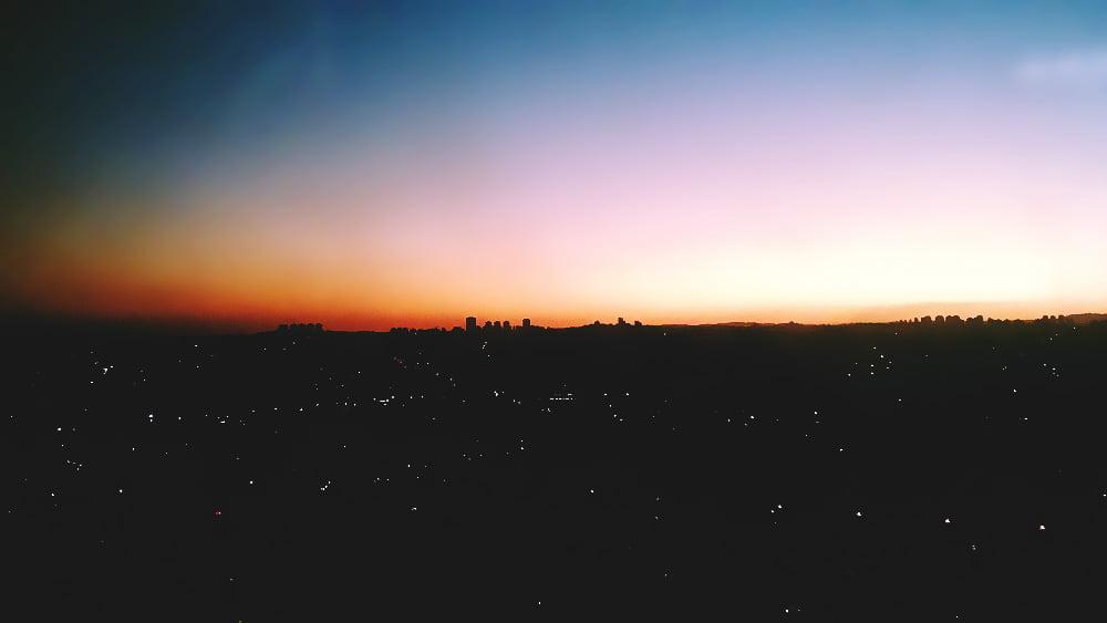 Entardecer em São Paulo