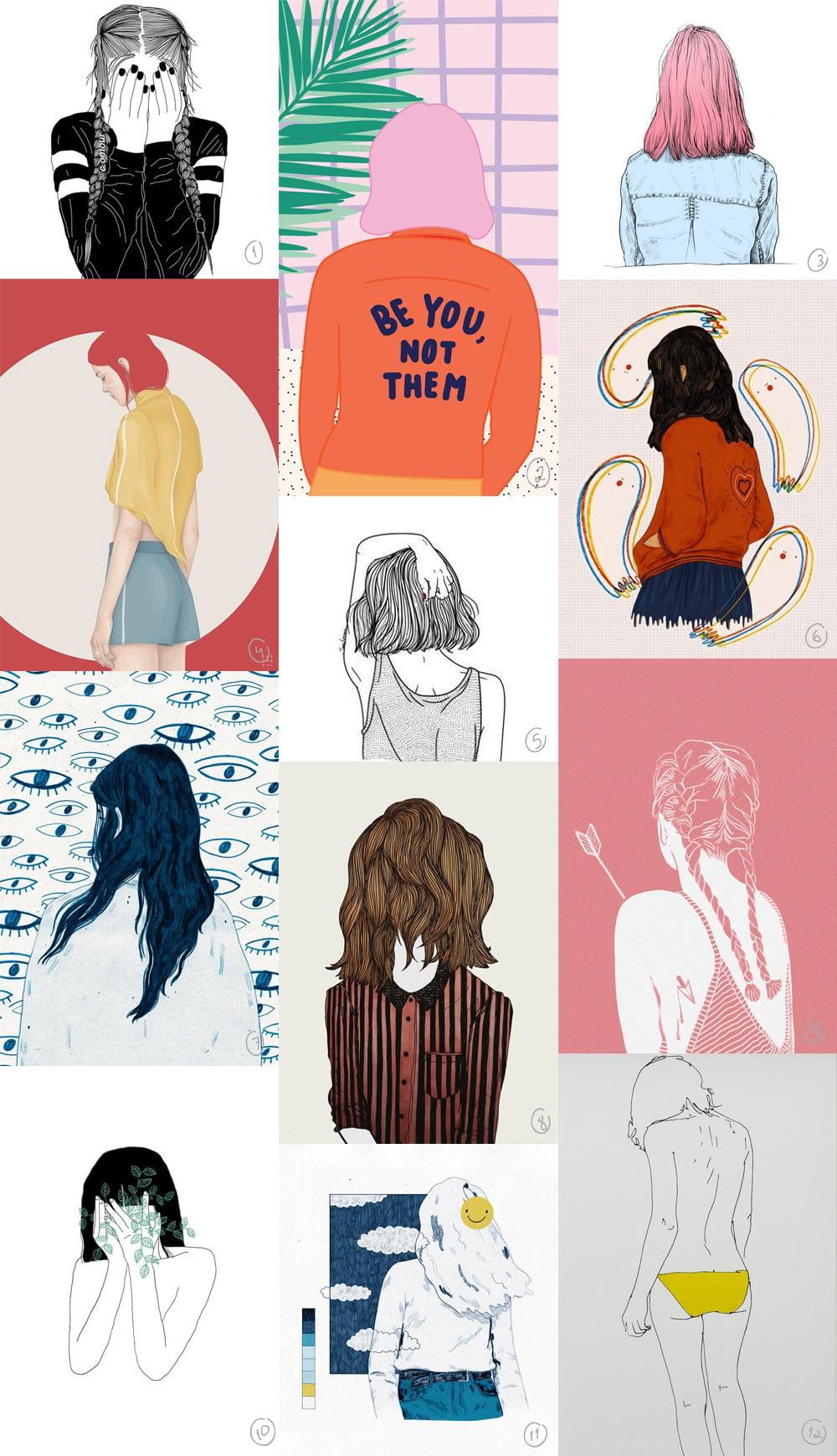 Ilustrações sem face